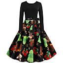 olcso Mikulás ruhák & Karácsonyi ruha-Audrey Hepburn Ruhák Női Felnőttek Karácsony Karácsony Karácsony Poliészter Ruha