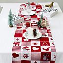 olcso Karácsonyi dekoráció-Klasszikus poliészter rost Négyzet Asztali futók Mértani Asztali dekorációk 1 pcs