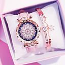 ราคาถูก สร้อยคอ-สำหรับผู้หญิง นาฬิกาควอตส์ นาฬิกาอิเล็กทรอนิกส์ (Quartz) PU Leather แดง / น้ำตาล / เขียว โครโนกราฟ น่ารัก ดีไซน์มาใหม่ ระบบอนาล็อก ความหรูหรา มาใหม่ - สีดำ ขาว สีม่วง หนึ่งปี อายุการใช้งานแบตเตอรี่