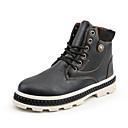 Χαμηλού Κόστους Αντρικές Μπότες-Ανδρικά Μπότες Μάχης PU Χειμώνας Μπότες Μαύρο / Καφέ / Γκρίζο