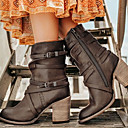 cheap Women's Boots-Women's Boots Chunky Heel Round Toe Rubber / Faux Fur Mid-Calf Boots Fall & Winter Black / Brown / Yellow