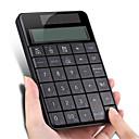 ราคาถูก คีย์บอร์ด-แป้นพิมพ์ตัวเลข usb ไร้สาย 2.4 กรัมพร้อมธุรกิจเครื่องคิดเลขหน้าจอ