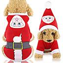ราคาถูก เสื้อผ้าสำหรับสุนัข-สุนัข แมว Hoodies เสื้อกั๊ก คริสมาสต์ Dog Clothes แดง เครื่องแต่งกาย Husky สุนัข Labrador Alaskan Malamute เส้นใยสังเคราะห์ ผ้าใบ วัสดุผสม คริสมาสต์ XS S M L XL XXL