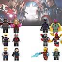 ราคาถูก บล็อกตัวต่อแม่เหล็ก-ซูเปอร์ฮีโร่ The Avengers minifigures 18pcs / คนเหล็กจำนวนมากนายทหารของเล่นการก่อสร้างตึก