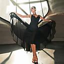 ราคาถูก ชุดเต้นรำลาติน-ชุดเต้นละติน ชุดเดรสต่างๆ สำหรับผู้หญิง Performance สแปนเด็กซ์ กระโปรงระบาย เสื้อไม่มีแขน ชุดเดรส