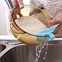 baratos Utensílios de Cozinha-Cozinha sorriso clip-on plástico cereais de arroz dispositivos de filtro de drenagem rolha cor aleatória