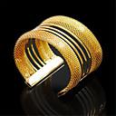 povoljno Modne narukvice-Žene Široke narukvice Širok prstenje Izrezati dragocjen Vintage Legura Narukvica Nakit Zlato Za Party Ulica Praznik