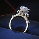 olcso Sütiformák-Női Gyűrű Kocka cirkónia 1db Ezüst Platina bevonat Ötvözet Stílusos Napi Ékszerek Bájos