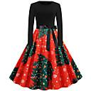 Χαμηλού Κόστους Χριστουγεννιάτικες Στολές-Audrey Hepburn Φορέματα Γυναικεία Ενηλίκων Χριστούγεννα Χριστούγεννα Χριστούγεννα Πολυεστέρας Φόρεμα