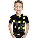 baratos Sandálias Femininas-Infantil Bébé Para Meninos Activo Básico Geométrica Estampado Estampa Colorida Estampado Manga Curta Camiseta Roxo