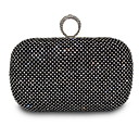 cheap Clutches & Evening Bags-Women's PU Evening Bag Solid Color Black / Gold / Silver