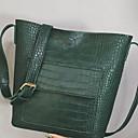 olcso Zsák táskák-Női PU Vállon átvetős táska Krokodil Fekete / Barna / Lóhere