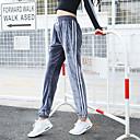 Χαμηλού Κόστους Ρούχα τρεξίματος-Γυναικεία Ψηλοκάβαλο Κορδόνι Jogger Pants Pantaloni de Alergat Ριγέ Βελούδο Γιόγκα Fitness Γυμναστήριο προπόνηση Παντελόνια Φούστες Ρούχα Γυμναστικής Αναπνέει Moale Άνετο Ελευθερία Ελαστικό Φαρδιά