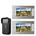 Χαμηλού Κόστους Συστήματα Ενδοεποικινωνίας Θυροτηλεόρασης-MOUNTAINONE SY812QA12 Ενσύρματη Ενσωματωμένο ηχείο 7 inch Hands-free Βίντεο Τηλέφωνο Πόρτας Ένα σε Δύο
