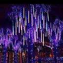 Χαμηλού Κόστους LED Φωτολωρίδες-30cm βροχή μετεωρίτη βροχή σωλήνα οδήγησε φως σειρά 16 σωλήνα που πέφτει βροχή drop icicle Χριστούγεννα γάμο νεράιδα φως γιρλάντα