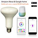 ราคาถูก หลอดไฟกลมLED-1pc 7 W หลอด LED กลม หลอดสมาร์ท LED 700 lm E14 B22 E26 / E27 12 ลูกปัด LED การควบคุม APP Smart Timing หลายสี 85-265 V