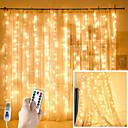 Χαμηλού Κόστους Christmas Stickers-τα φώτα κουρτίνας παράθυρων zdm 300 οδήγησαν usb powered fairy string φώτα με απομακρυσμένο ip65 αδιάβροχο&αμπέραζ; 8 ρυθμίσεις λαμπυρίζοντας φώτα για τα Χριστούγεννα πάρτι γάμους διακοσμήσεις