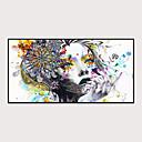 Χαμηλού Κόστους Εκτυπώσεις σε Κορνίζα-Εκτύπωση Τέχνης σε Κορνίζα Σετ σε Κορνίζα - Αφηρημένο Άνθρωποι Πολυστυρένιο Ελαιογραφία Wall Art