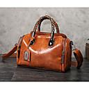 ราคาถูก กระเป๋า Totes-สำหรับผู้หญิง ซิป PU กระเป๋าถือยอดนิยม สีดำ / สีน้ำตาล / สีเทาเขียว