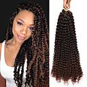 """ราคาถูก วิกผมเปีย-Braiding Hair ความหงิก Wavy Braids บิด แอฟริกา Kinky Braids Braids หยิก สังเคราะห์ ผม Kanekalon 100% 3-แพ็ค Braids ผม สีธรรมชาติ 18"""" ทนต่อความร้อน สังเคราะห์ น่ารัก Halloween / ผม Ombre"""