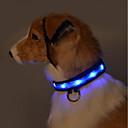 Χαμηλού Κόστους Περιλαίμια σκύλων και λουράκια-Τρωκτικά Σκυλιά Γάτες Κολάρα Προσαρμόσιμη / Τηλεσκοπικό Λάμπει στο σκοτάδι Καθημερινά Συνδυασμός Χρωμάτων Νάιλον Πράσινο Μπλε Χάσκυ Λαμπραντόρ Γκόλντεν Ριτρίβερ Δαλματίας Shih Tzu Κανίς