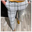 baratos Pulseiras Masculinas-Homens Básico Social Calças - Listrado Amarelo Vermelho Cinzento US36 / UK36 / EU44 US38 / UK38 / EU46 US40 / UK40 / EU48