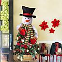 olcso Christmas Stickers-133 * 115cm kockás ruhával ünnepi dekorációk karácsonyi díszek karácsonyfák / karácsonyi / karácsonyi díszek dekoratív fehér / piros 1db