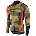 ราคาถูก เสื้อปั่นจักรยาน-21Grams สำหรับผู้ชาย แขนยาว Cycling Jersey การอำพราง จักรยาน เสื้อยืด แป้นสั้น Tops ขี่จักรยานปีนเขา Road Cycling ทน UV ระบายอากาศ แห้งเร็ว กีฬา ฤดูหนาว 100% โพลีเอสเตอร์ เสื้อผ้าถัก / Race Fit