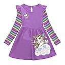 povoljno Kompletići za dječake-Djeca Djevojčice Crtani film Haljina purpurna boja / Pamuk