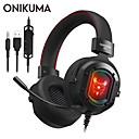 billige Gaming-ONIKUMA K3 Gaming Headset Med ledning Gaming Stereo Dual Drivers Med mikrofon