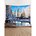 billige Wall Tapestries-Blomster Tema / Klassisk Tema Veggdekor 100% Polyester Moderne Veggkunst, Veggtepper Dekorasjon