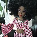 baratos Porta Cosméticos-Boneca de moda Bebês Meninas 12 polegada Fofo Adorável Rabo de cavalo afro de Criança Brinquedos Dom