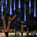 billige Wall Tapestries-regndrop lys førte fallende regnlys med 11,8 tommers 8 rør 144 led utendørs istau snø meteor dusjlys for xmas bryllupsfest hage dekorasjon