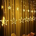 Χαμηλού Κόστους LED Φωτολωρίδες-2.5m 138 leds icicle οδήγησε αστέρων νεράιδα φώτα χριστουγεννιάτικη γιρλάντα κουρτίνα φώτα σειράς αστέρι λάμπα γάμο κόμμα νέο έτος διακόσμηση