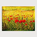 povoljno Slike za cvjetnim/biljnim motivima-Hang oslikana uljanim bojama Ručno oslikana - Cvjetni / Botanički Moderna Bez unutrašnje Frame
