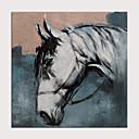 billiga Blom-/växtmålningar-Hang målad oljemålning HANDMÅLAD - Abstrakt Djur Moderna Utan innerram