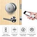 billige Smartlamper-airbnk m300 smart dørlås (elektronisk dødboltslås) nøkkelfritt inngangsarbeid med ios & Android; enkelt å installere (sølv uten batteri inkluderer)