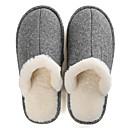 ราคาถูก รองเท้าแตะ & Flip-Flops ผู้ชาย-สำหรับผู้ชาย รองเท้าสบาย ๆ ผ้ายืดหยุ่น ฤดูใบไม้ร่วง & ฤดูหนาว ไม่เป็นทางการ รองเท้าแตะและรองเท้าแตะ รักษาให้อุ่น สีน้ำตาล / สีเทา