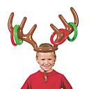 billiga Julpynt-pvc uppblåsbar gevir pannband leksaker djur huvud ring kasta cirkel leksak spel roliga ren julklappar dekor tillbehör