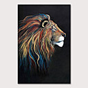 cheap Oil Paintings Great Sale-Oil Painting Hand Painted - Animals Pop Art Modern Rolled Canvas