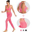 Χαμηλού Κόστους Τσάντες Tote-Γυναικεία Ψηλή Μέση Κοστούμι γιόγκα 2 τεμάχια Μαύρο Ουρανί Φούξια Πορτοκαλί Ροζ Τρέξιμο Fitness Γυμναστήριο προπόνηση Κολάν Σουτιέν Top Αθλητισμός Ρούχα Γυμναστικής / Πολύ στενό / Υψηλή Ελαστικότητα