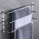 Χαμηλού Κόστους Ράβδοι για πετσέτες-Σετ αξεσουάρ μπάνιου / Κρεμάστρα / Γάντζος για μπουρνούζι Πολλαπλών στρώσεων / Νεό Σχέδιο / Απίθανο Σύγχρονο / Πεπαλαιωμένο Ανοξείδωτο Ατσάλι 1pc - Μπάνιο / Ξενοδοχείο μπάνιο 3 μπαρ πετσετών