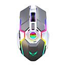 ราคาถูก เมาส์-ZERODATE ZER-T30 Wireless 2.4G เกี่ยวกับสายตา เมาส์สำหรับเล่นเกม / เมาส์ชาร์จ ไฟ RGB 2400 dpi 3 ระดับ DPI ปรับได้ 7 pcs คีย์