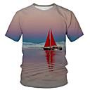 Χαμηλού Κόστους Wall Ταπετσαρίες-Ανδρικά T-shirt Πανκ & Γκόθικ / Εξωγκωμένος Συνδυασμός Χρωμάτων Στάμπα Γκρίζο