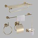 billiga Set med badrumstillbehör-Badrumstillbehörsset Antik Mässing 5pcs - Hotellbad Toalettpappershållare / torn bar / torn ring