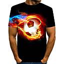 billige T-skjorter og singleter til herrer-T-skjorte Herre - 3D / Dyr Svart