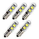 baratos Lâmpadas LED em Forma de Espiga-5pçs 1 W Lâmpadas Espiga 45 lm E14 7 Contas LED SMD 5050 Decorativa 180-240 V
