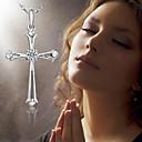 billiga Armbandsklockor-mode förgyllt 925 kvinnors halsband glänsande zirkon klassiska kors halsband smycken kvinnors årsdag present