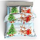 ราคาถูก ผ้าปูที่นอนลายการ์ตูน-แต่งงานกับคริสมาสต์ชุดเครื่องนอนซานตาคลอสของขวัญพิมพ์ 3d ปลอกหมอนและผ้านวมปกชุดสีแดงผ้าปูเตียงที่นอนหมอนมุ้ง