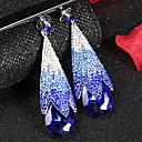 ราคาถูก ตุ้มหู-สำหรับผู้หญิง ล้าง สีน้ำเงิน สีน้ำตาล Cubic Zirconia Drop Earrings หนามอันหนาแน่น หล่น โรแมนติก แฟชั่น สง่างาม ต่างหู เครื่องประดับ ขาวและเงิน / ขาว / สีน้ำตาลอ่อน สำหรับ / 1 คู่